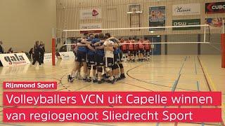 Promovendus VCN twijfelde over deelname aan eredivisie, maar wint derby van Sliedrecht Sport