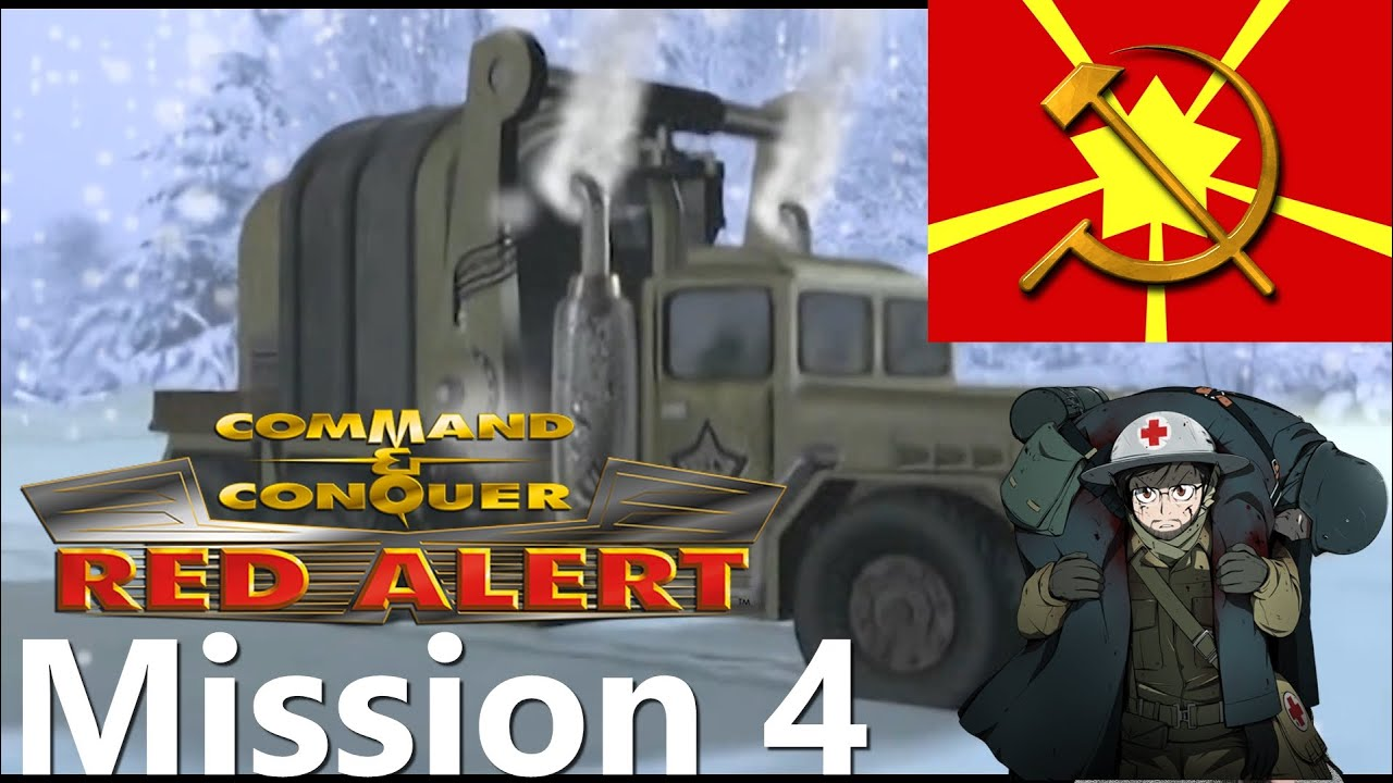 Command & Conquer Remastered: Red Alert 1 - Soviet Mission #4 Behind the Lines