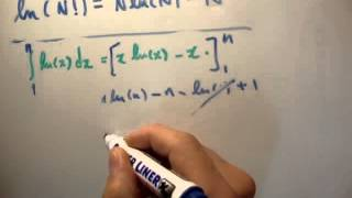 Thermodynamics 11 : Stirling's Approximation Derivation
