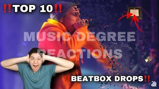 Top 10 BeatBox Battle DROPS! (2019) THIS WAS CRAZY! MUSIC DEGREE REACTIONS!