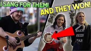 guess the song, WIN A PRIZE!! (Public Music Prank)