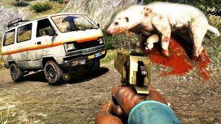 Зомби Язовец и луд СЛОН! - Far Cry 4 Bonus #2