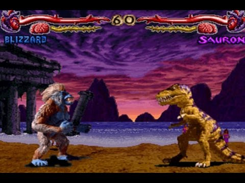 Vintage Arcade Games >> CGRundertow PRIMAL RAGE for Super NES Video Game Review - YouTube