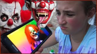 Scary Killer Clown Steals Fidget Spinner and Sends Creepy Videos Texts