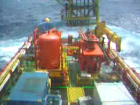 Wave at offshore platform