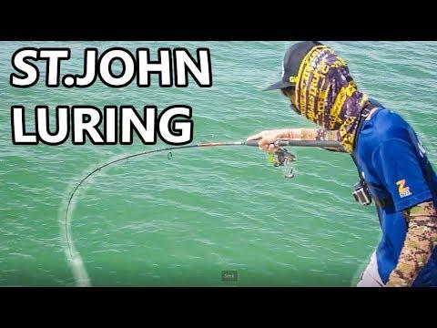FISHING OFF WATER BREAKERS | LURING ON ST.JOHN'S ISLAND
