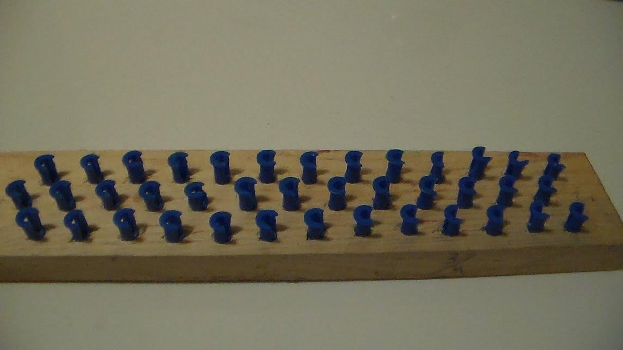 Pulseras de ligas en tabla