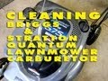 HOW TO CLEAN A Briggs & Stratton Quantum Lawnmower Carburetor