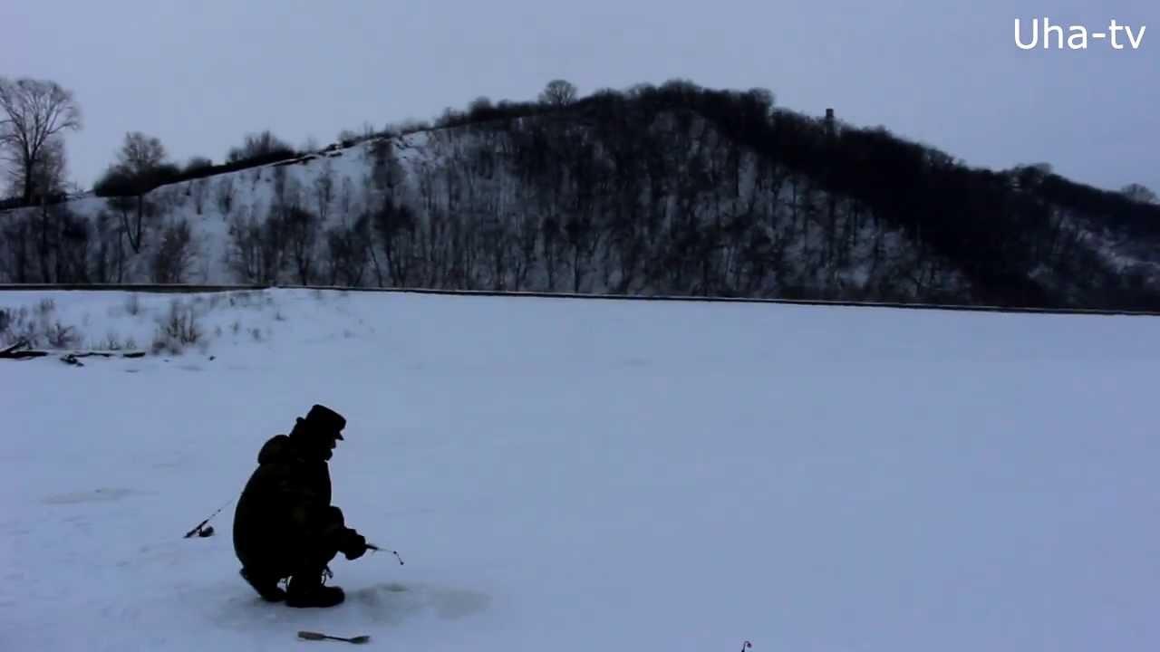 Рыбалка на судака зимой. 2 февраля 2014 (Чебоксарское водохранилище) Uha-tv