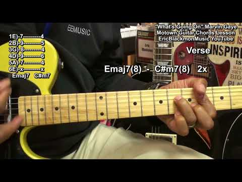How To Play WHAT&39;S GOING ON Marvin Gaye Guitar Lesson Motown Eric Blackmon Guitar