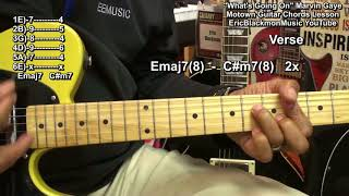 WHAT'S GOING ON Marvin Gaye Guitar Lesson Motown @EricBlackmonGuitar