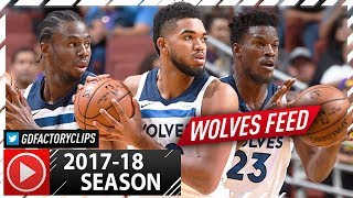 Jimmy Butler, Karl-Anthony Towns & Andrew Wiggins Highlights vs Lakers (2017.09.30) - Wolves Feed!