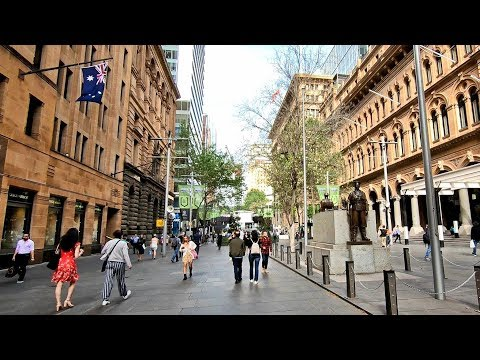 MARTIN PLACE Sydney Australia Walking Tour - Spring In Sydney
