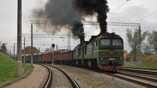 Железная дорога, Тепловозы 2М62 и модификации / Diesel locomotives 2M62 and modifications(Some videos from my archive. Freight locomotives 2M62 (and modifications). Taken in many places in Lithuania. PART 1. Locomotives: 1. 2M62K-0756, 2., 2012-02-18T02:33:28.000Z)