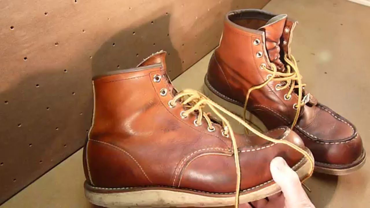 RED WING SHOES 875 Moc Toe 6 inch Boot *1 YEAR REVIEW*