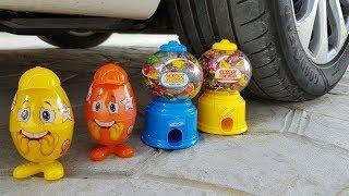 Crushing Crunchy & Soft Things by Car! - EXPERIMENT - SUGAR MACHINE VS CAR