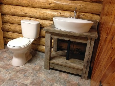 Rustic Bathroom Vanity Plans - YouTube