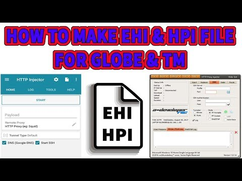 HOW TO MAKE EHI & HPI FILE FOR GLOBE AND TM