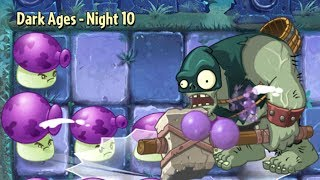 Plants Vs Zombies 2 Dark Ages: NEW PLANT New ZOMBIES  Night 8-10 Walkthrough