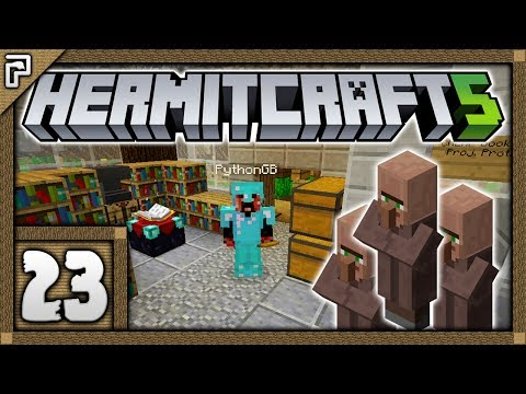 🐚 Hermitcraft 5 | Let's Play Minecraft Survival | VILLAGER MANIA! The Automatic Library! [#23]