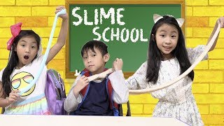 Slime School First Day in Class - New Toy School
