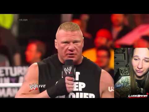 WWE RAW 3/3/14 Brock Lesnar F5s Mark Henry...