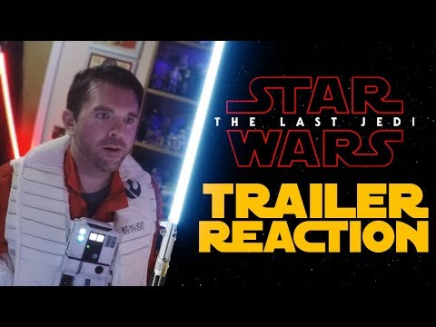 Star Wars: The Last Jedi - Full Trailer Reaction (in Cosplay)