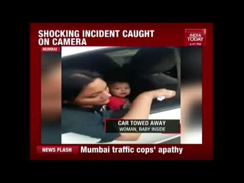 Mumbai Traffic Police Tows Away Vehicle With Woman And Child Inside, Video Goes Viral