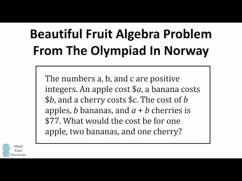 Delightfully Fruitful Problem From The Norwegian Math Olympiad