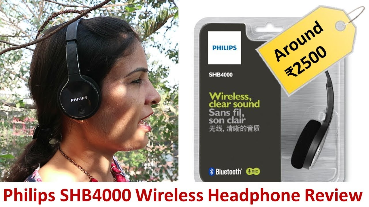 Philips Shb4000 Bluetooth Wireless Headphone Review And Much More Youtube