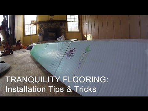 Tranquility Vinyl Floor Installation