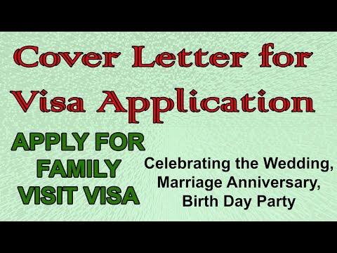 Cover Letter For Family Visit Visa