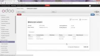 Accounting   -  Register a Partial Payment from a Bank Statement in odoo