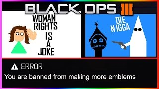THE MOST OFFENSIVE EMBLEMS IN BLACK OPS 3!!! (BLACK OPS 3 RUDE OFFENSIVE EMBLEMS)