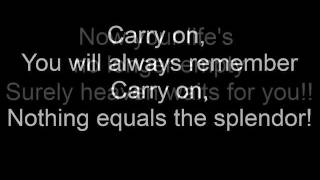 Carry on My Wayward Son by Kansas (Lyrics)