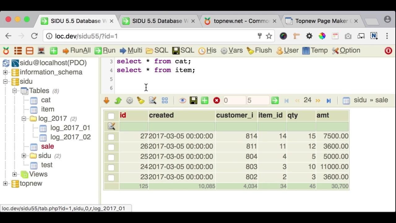 Mysql admin - Sidu 5 5 For Mysql Postgresql Sqlite Database Admin Web Gui Tool