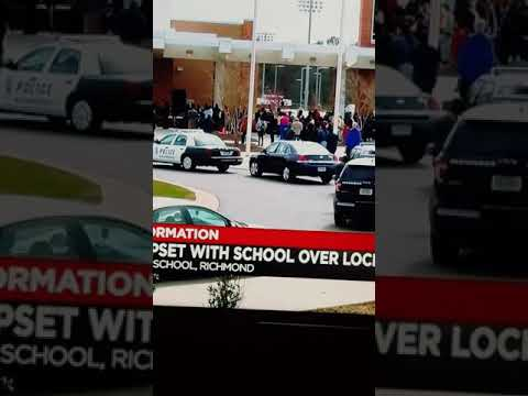 Wow on Huguenot High School property and this went down what kind of terrible nonsense