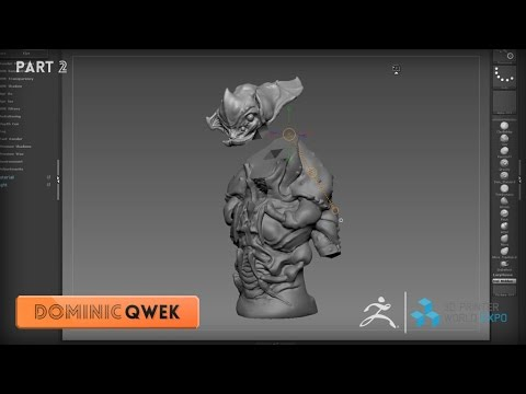 ZBrush 3DPWE Demonstration with Dominic Qwek Part 2