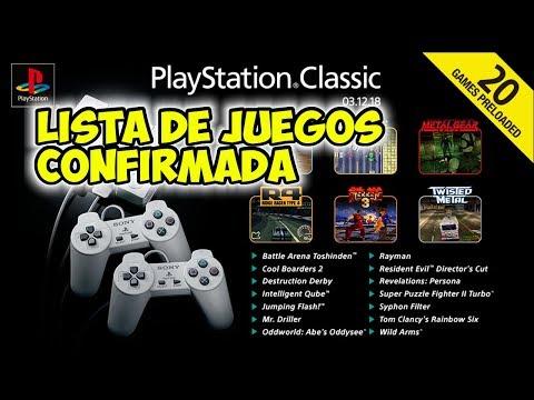 🔥  PLAYSTATION CLASSIC MINI: Confirmada la lista de juegos de la ps1 mini, RESERVALA YA!