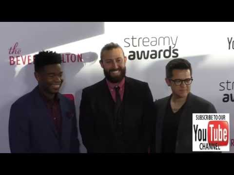 Dexter Darden, Todd Kirby and John Swetnam at The 6th Annual Streamy Awards Hosted By King Bach And