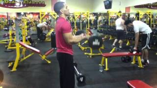 Tricep and bicep workout routine weight training