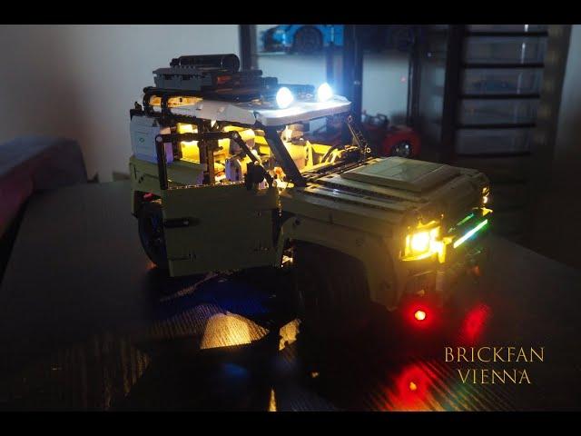Alles ist schöner mit Licht - LEGO® 42110 Land Rover