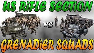 Men of War Assault Squad 2 - US Rifle Section vs German Grenadier Squads - Editor Scenario #17