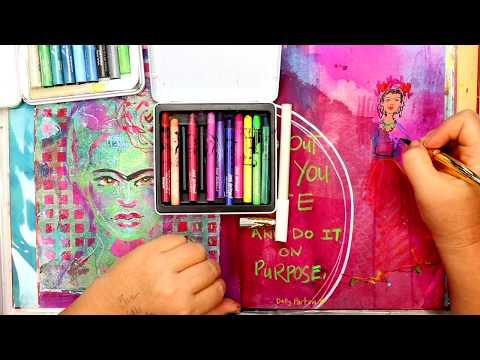 Frida Papel Picado And Gelli Plate!