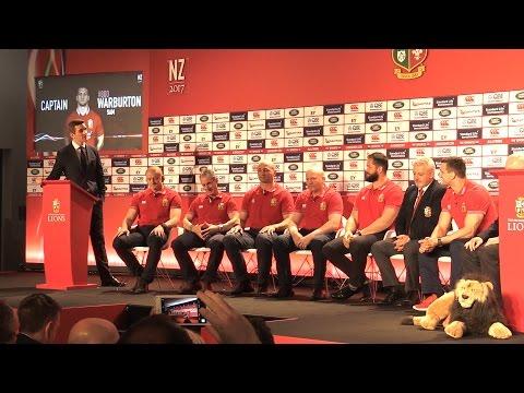 British & Irish Lions Announce 2017 Squad - Full Press Conference / Q&A