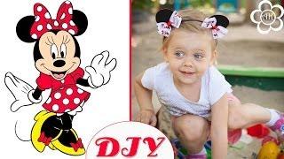 Ободок Минни Маус / Мастер класс / Minnie Mouse Headband(Меня зовут Настя, и я рада приветствовать вас на своем канале, на котором представлены мастер класс по канза..., 2014-07-21T15:00:05.000Z)