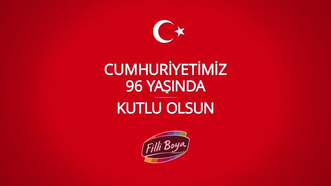 Filli Boya 29 Ekim Cumhuriyet Bayrami Youtube