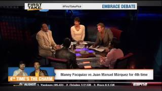 Paquiao & Marquez on First Take