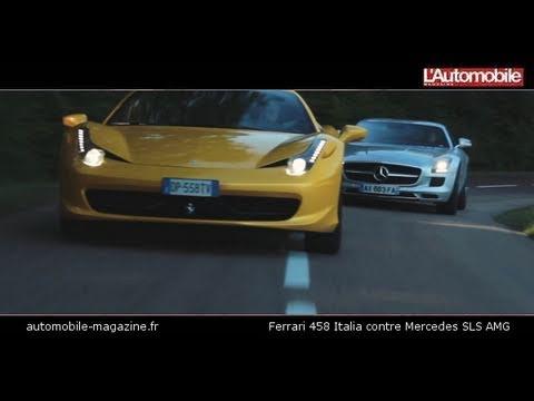 Un V8, 570 chevaux, une ligne à tomber par terre, et un prix qui garantit la rareté – la Ferrari458Italia et la MercedesSLS partagent de nombreuses caractéristiques, tout en préservant un tempérament bien distinct.