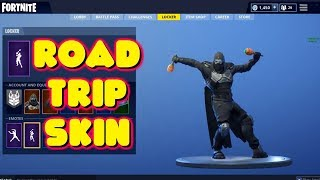NEW LEAKED ROAD TRIP SKIN DOES UNRELEASED EMOTES IN FORTNITE